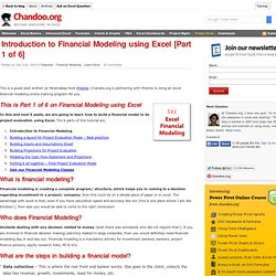 Introduction to Excel Financial Modeling - What is a Financial Model and how to build one?