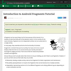 Introduction to Android Fragments Tutorial