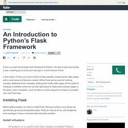 An Introduction to Python's Flask Framework