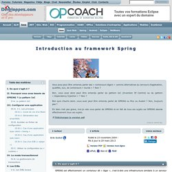 Introduction au framework Spring