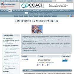 Introduction au framework Spring
