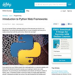 Introduction to Python Web Frameworks