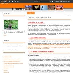 """Introduction à """"la France en villes"""" - Capes"""