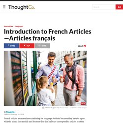 Introduction to French Articles