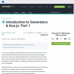 Introduction to Generators & Koa.js: Part 1