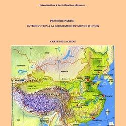 1 - Introduction à la géographie du mobde chinois