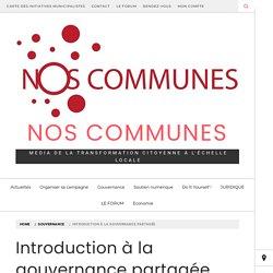 Introduction à la gouvernance partagée - Nos Communes