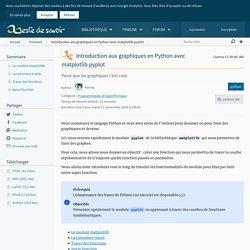 Introduction aux graphiques en Python avec matplotlib.pyplot