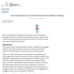 An Introduction to Greek Food and Greek Cooking