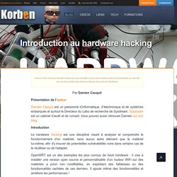 Introduction au hardware hacking «
