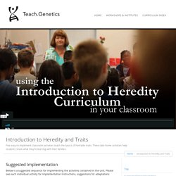 Introduction to Heredity and Traits