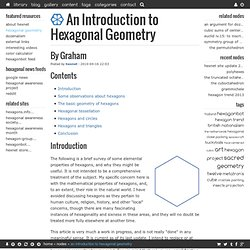 An Introduction to Hexagonal Geometry