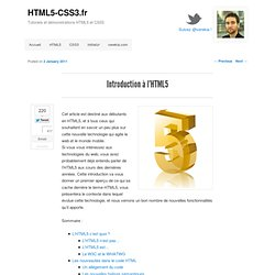 Introduction à l'HTML5
