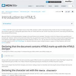 Introduction to HTML5 - Web developer guide