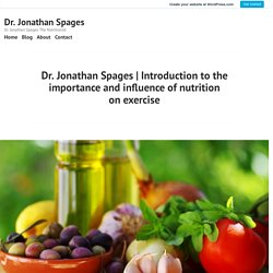 Introduction to the importance and influence of nutrition on exercise