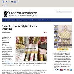 Introduction to Digital Fabric Printing – Fashion-Incubator