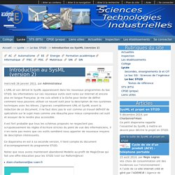 Introduction au SysML (version 2) - Sciences et Technologies Industrielles - Académie de CAEN