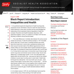 Black Report Introduction: Inequalities and Health
