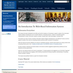 An Introduction To Web-Based Information Systems