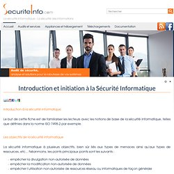 Introduction et initiation à la Sécurité Informatique