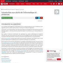 Introduction aux droits de l'informatique et d'internet