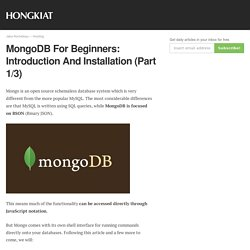 MongoDB For Beginners: Introduction and Installation