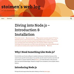 Diving into Node.js – Introduction & Installation