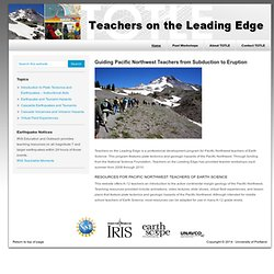Introduction to Plate Tectonics and Earthquakes - Instructional Aids | Teachers on the Leading Edge