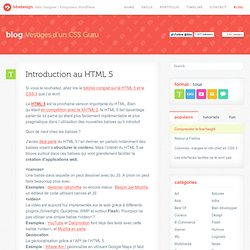 Introduction au HTML 5