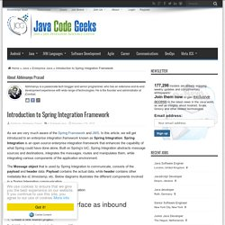 Introduction to Spring Integration Framework