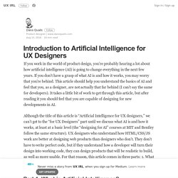 Introduction to Artificial Intelligence for UX Designers