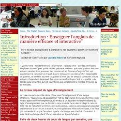 """Introduction : Enseigner l'anglais de manière efficace et interactive"""""""