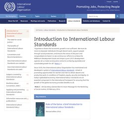 Introduction to International Labour Standards
