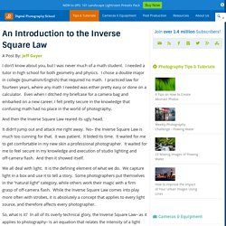 An Introduction to the Inverse Square Law