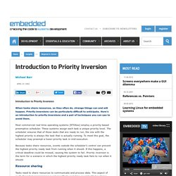 Introduction to Priority Inversion