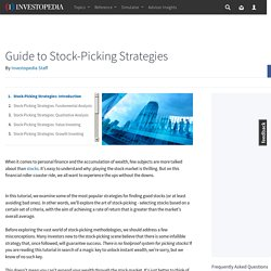 Stock-Picking Strategies: Introduction