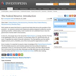 The Federal Reserve: Introduction