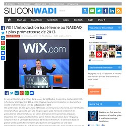 WIX ! L'introduction israélienne au NASDAQ la plus prometteuse de 2013