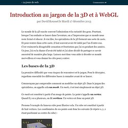Introduction au jargon de la 3D et à WebGL