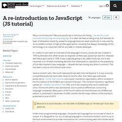 A re-introduction to JavaScript - MDN Docs