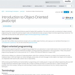 Introduction to Object-Oriented JavaScript