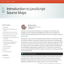 Introduction to JavaScript Source Maps