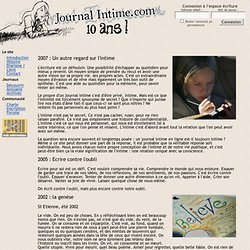 Introduction - Journal Intime.com