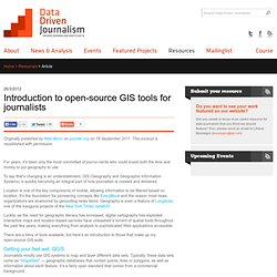 Introduction to open-source GIS tools for journalists