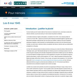 Introduction : justifier le pluriel - Pour mémoire - Centre National de Documentation Pédagogique
