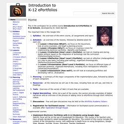 Introduction to K-12 ePortfolios