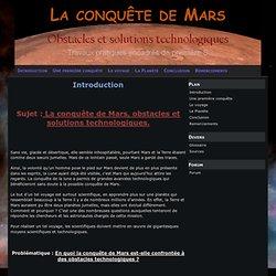 Introduction - La conquête de Mars