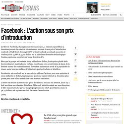 Facebook : L'action sous son prix d'introduction
