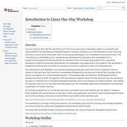 Introduction to Linux One-Day Workshop