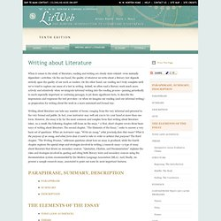 LitWeb - The Norton Introduction to Literature: W. W. Norton & Company StudySpace